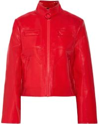 Carven - Glossed Faux Leather Jacket - Lyst