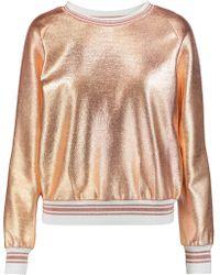 Raoul - Metallic Jersey Sweatshirt - Lyst