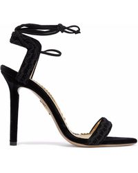 Charlotte Olympia - Embroidered Velvet Sandals - Lyst