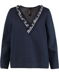 Mother Of Pearl - Georgia Embellished Cotton And Modal-blend Scuba Sweatshirt - Lyst