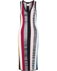 Cinq À Sept - Color-block Stretch-knit Dress - Lyst