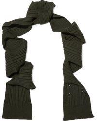 Maison Margiela - Ribbed-knit Scarf - Lyst