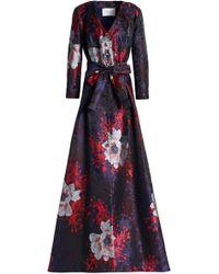 Carolina Herrera - Floral-print Jacquard Gown - Lyst