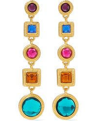 Ben-Amun - Woman Gold-tone Crystal Earrings Multicolor - Lyst