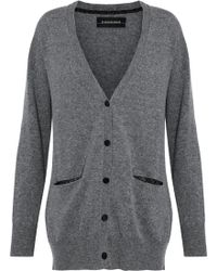 By Malene Birger - Mélange Wool And Cashmere-blend Cardigan - Lyst