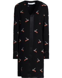 Victoria, Victoria Beckham - Satin-trimmed Printed Crepe Dress - Lyst