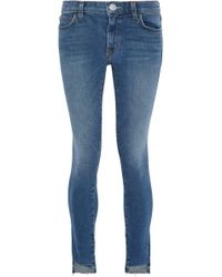 Current/Elliott - Faded Low-rise Skinny Jeans - Lyst