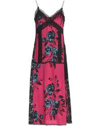 McQ - Lace-trimmed Printed Crepe De Chine Midi Dress - Lyst