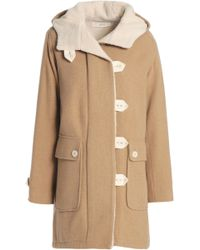 Vanessa Bruno Athé - Faux Shearling-lined Wool-blend Coat - Lyst