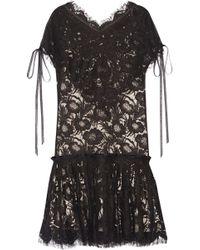 Wes Gordon - Beatrix Cotton-blend Corded Lace Mini Dress - Lyst