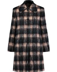 Markus Lupfer   Angie Checked Wool-blend Coat   Lyst