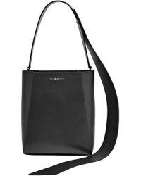 f3ad0d0da1b CALVIN KLEIN 205W39NYC - Woman Buck Stripe Leather Shoulder Bag Black - Lyst