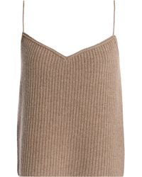 Theory - Ribbed Cashmere Camisole Mushroom - Lyst