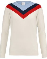 Madeleine Thompson - Thilia Ruffle-trimmed Wool And Cashmere-blend Sweater - Lyst