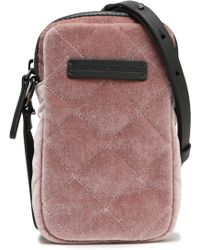 Brunello Cucinelli - Leather-trimmed Quilted Velvet Phone Case - Lyst