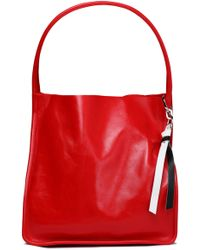 Proenza Schouler - Glossed-leather Tote - Lyst