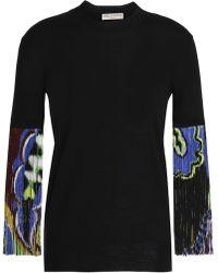 Emilio Pucci - Fringed Knit Wool Top - Lyst