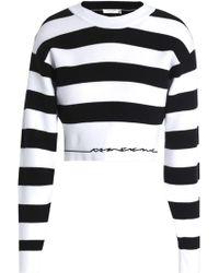 Rag & Bone Sharon Striped Stretch-knit Top Black