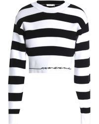 Rag & Bone - Woman Sharon Striped Stretch-knit Top Black - Lyst