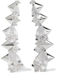 Noir Jewelry - Arctic Ice Silver-tone Crystal Earrings - Lyst