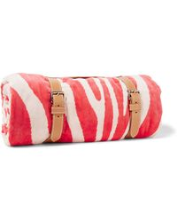 Maslin & Co - Zebra-print Brushed-cotton Towel - Lyst