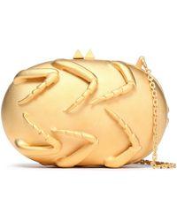 Valentino - Gold-tone Clutch - Lyst