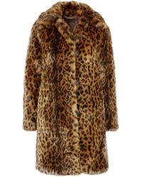 J.Crew - Leopard Print Faux Fur Coat - Lyst
