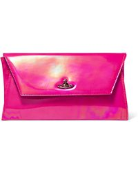Vivienne Westwood Anglomania - Iridescent Glossed-leather Clutch - Lyst