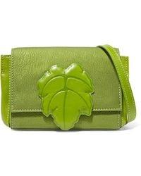 Vivienne Westwood Anglomania - Appliquéd Paneled Textured-leather Shoulder Bag - Lyst