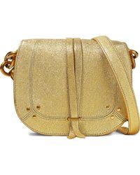 Jérôme Dreyfuss - Jérôme Dreyfuss Woman Metallic Textured-leather Shoulder Bag Gold - Lyst