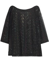 Love Moschino - Embellished Tulle Top - Lyst