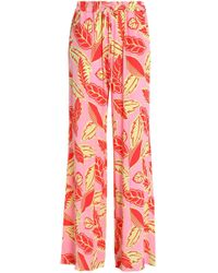 Boutique Moschino - Printed Jersey Wide-leg Pants - Lyst