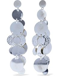 Kenneth Jay Lane - Hammered Silver-tone Earrings - Lyst