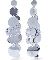 Kenneth Jay Lane - Woman Hammered Silver-tone Earrings Silver - Lyst