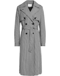 Claudie Pierlot - Houndstooth Cotton Trench Coat - Lyst
