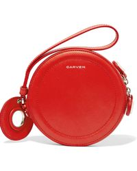 Carven - Eyelet-embellished Leather Pouch - Lyst