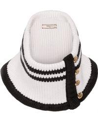 Bouchra Jarrar - Striped Knitted Wool Scarf - Lyst