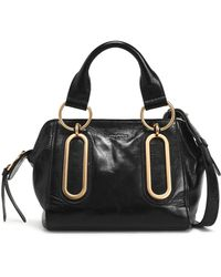 See By Chloé - Embellished Glossed-leather Shoulder Bag - Lyst