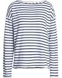 Rag & Bone - Striped Cotton-blend Top - Lyst