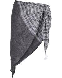 Heidi Klum - Wayfarers Glow Printed Voile Pareo Dark Grey - Lyst