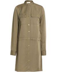MICHAEL Michael Kors - Twill Mini Shirt Dress Army Green - Lyst