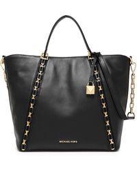 MICHAEL Michael Kors - Embellished Leather Tote - Lyst
