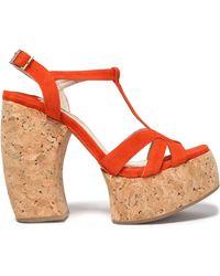 Paloma Barceló - Suede Platform Sandals - Lyst