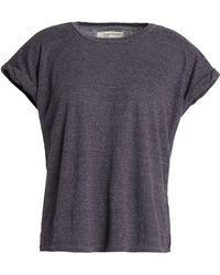 Current/Elliott - The Rolled Crew Slub Jersey T-shirt Dark Grey - Lyst
