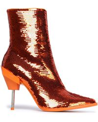 Emilio Pucci - Sequined Suede Ankle Boots - Lyst