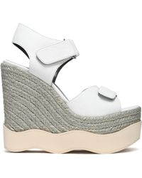 Paloma Barceló - Lys Leather Espadrille Wedge Sandals - Lyst
