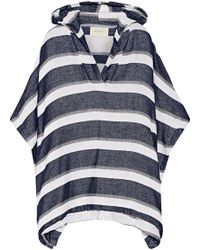 Solid & Striped - The Beach Cape Striped Cotton-blend Terry Hooded Poncho - Lyst