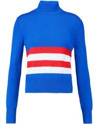 Emilio Pucci - Striped Merino Wool Turtleneck Jumper - Lyst
