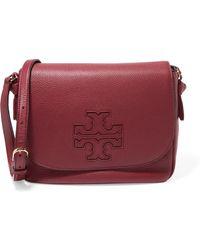 Tory Burch - Harper Textured-leather Shoulder Bag - Lyst