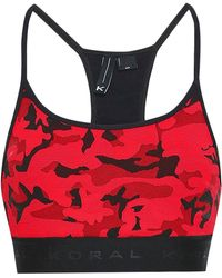 478ae4d9d5 Koral - Woman Jacquard-knit Sports Bra Red - Lyst
